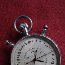Relojes de bolsillo: ANTIGUO CRONÓMETRO MECÁNICO CUERDA DE PRECISIÓN SOVIÉTICO MARCA SLAVA UNIÓN SOVIÉTICA URSS RUSIA. Lote 219001152