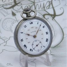Relojes de bolsillo: UNIC-TELLUS-RELOJ DE BOLSILLO-FRANCIA-24 HORAS-CIRCA 1920-FUNCIONANDO. Lote 219011160
