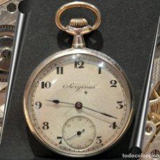 Relojes de bolsillo: RELOJ DE BOLSILLO DE PLATA SERGINES BY LONGINES CARGA MANUAL MUY RARO. Lote 219640380