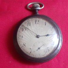 Relojes de bolsillo: ANTIGUO RELOJ DE BOLSILLO.MIDE 48 MM . LA CAJA ES DE METAL. Lote 219877615