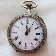 Relojes de bolsillo: RELOJ DE BOLSILLO ANTIGUO PLATA CILINDRO. Lote 220393606