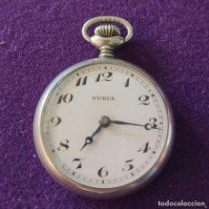 Relojes de bolsillo: ANTIGUO RELOJ DE BOLSILLO TURIA. SWISS. EN FUNCIONAMIENTO. AÑOS 20-30.. Lote 220544901