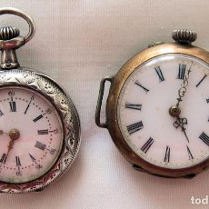 Orologi da taschino: DOS RELOJES DE BOLSILLO PLATA 1900. Lote 220757181