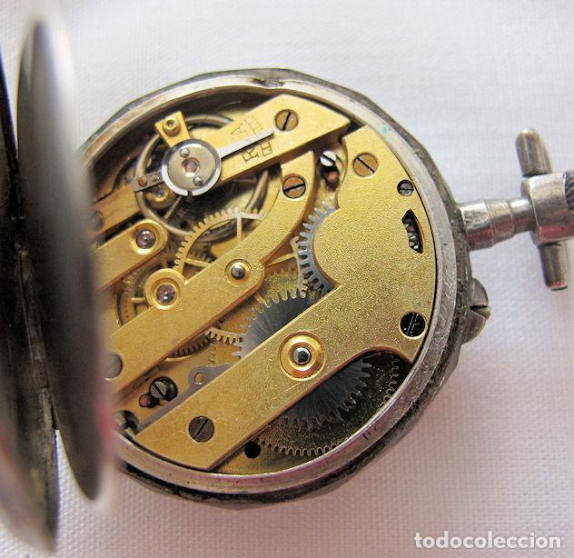 Relojes de bolsillo: DOS RELOJES DE BOLSILLO DE PLATA - Foto 5 - 220757982