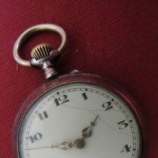 Relojes de bolsillo: RELOJ ANTIGUO DE BOLSILLO MECÁNICO SUIZO DE PLATA A CUERDA MANUAL AÑO PERIODO 1880 - 1900 Y FUNCIONA. Lote 221152560