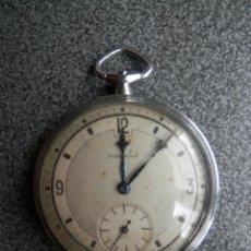Relojes de bolsillo: RELOJ DE BOLSILLO SUIZO MARCA MEDANA ART-DECÓ MIDE 48 MILÍMETROS ANTIGUO FUNCIONA. Lote 221169491