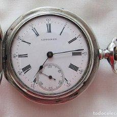 Relojes de bolsillo: RELOJ DE BOLSILLO LONGINES 1911 PLATA TRES TAPAS. Lote 221390157