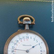 Montres de poche: RELOJ DE BOLSILLO 24 HORAS PAVONADO. Lote 221469521
