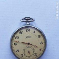 Relojes de bolsillo: ZENTRA MECANICO MANUFACTURA? 46MM BONITO PARA DECORAR. Lote 221544147