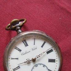 Relojes de bolsillo: ANTIGUO RELOJ DE BOLSILLO MECÁNICO DE CUERDA MANUAL SUIZO FUNCIONA AÑO 1900 / 1910 HECHO EN SUIZA. Lote 221548826
