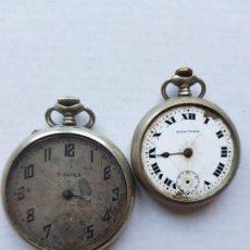 Relojes de bolsillo: PAREJA DE RELOJES MECANICOS ANTIGUOS DECORAR O PROYECTO 40 Y 48 MM A8. Lote 221586187