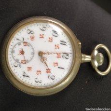 Relojes de bolsillo: IMPRESIONANTE RELOJ DE BOLSILLO 24 HORAS CON SEGUNDERO PLATA CIRCA 1820 FUNCIONA. Lote 221781795