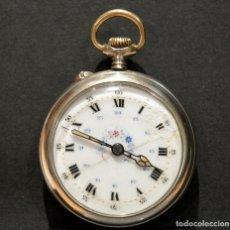 Relojes de bolsillo: ANTIGUO RELOJ DE BOLSILLO DE CARGA MANUAL ESFERA DE PORCELANA. Lote 221822976