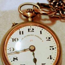 Relojes de bolsillo: RELOJ DE BOLSILLO GRE ROSKOPEF PATENT 1A FUNCIONA DE CARGA MANUAL. Lote 221885177