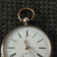 Relojes de bolsillo: RELOJ BOLSILLO PLATA (800). Lote 221885221