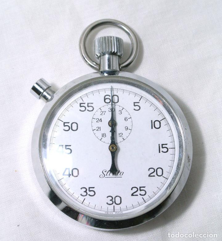 CRONOMETRO STRATO DE CUERDA , FUNCIONANDO PERFECTAMENTE (Relojes - Bolsillo Carga Manual)