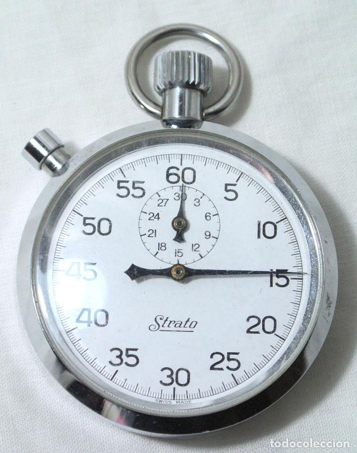 Relojes de bolsillo: CRONOMETRO STRATO DE CUERDA , FUNCIONANDO PERFECTAMENTE - Foto 3 - 222193501