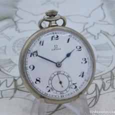 Relojes de bolsillo: OMEGA-RELOJ DE BOLSILLO-24 HORAS-CIRCA 1940-FUNCIONANDO. Lote 222273351