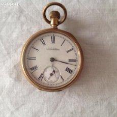 Relojes de bolsillo: RELOJ DE METAL DORADO. SXIX. Lote 222290967
