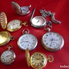 Relojes de bolsillo: RELOJES DE BOLSILLO ALGUNOS FUNCIONANDO. Lote 222293850