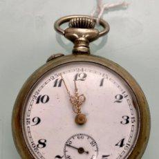 Relojes de bolsillo: RELOJ DE BOLSILLO CROMADO ANTIGUO S.XIX FUNCIONANDO. Lote 222387836