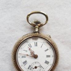 Relojes de bolsillo: RELOJ DE BOLSILLO BONITA CAJA FUNCIONANDO 44MM. Lote 222477627