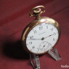 Relojes de bolsillo: WALTHAM 16S CHAPADO EN ORO. Lote 222583485