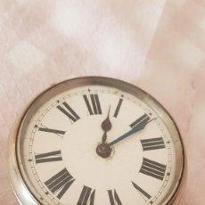 Relojes de bolsillo: RELOJ DE TREN OMEGA 8 DÍAS CUERDA GOLIAT MIDE 7CM BUEN ESTADO FUNCIONA ALTA COLECCIÓN. Lote 222592686