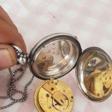 Relojes de bolsillo: RELOJ CATALINA SABONETA DE PLATA LABRADA CONTRASTADA CIRCA 1820 BUEN ESTADO MAQUINA LONDON FUNCIONA. Lote 222597457