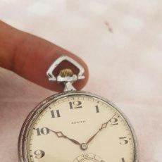 Relojes de bolsillo: RELOJ ANTIGUO ZENITH EXTRAPLANO DETALLES ATRÁS BUEN ESTADO FUNCIONA ALTA COLECCIÓN. Lote 222599170