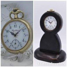 Relojes de bolsillo: REGULATEUR-MUY BONITO Y GRAN RELOJ DE BOLSILLO Y EXPOSITOR-FERROVIARIO-CIRCA 1910-1915-FUNCIONANDO. Lote 222830423