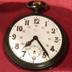 Relojes de bolsillo: ANTIGUO RELOJ DE BOLSILLO EN METAL PAVONADO. S.XIX.. Lote 222887622