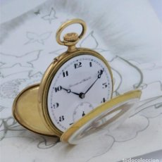 Relojes de bolsillo: IWC-INTERNATIONAL WATCH CO-DE ORO 14 K-RELOJ DE BOLSILLO-CIRCA 1918-1925-FUNCIONANDO. Lote 222893910