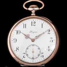 Relojes de bolsillo: ANTIGUO RELOJ DE BOLSILLO LONGONES, ORIGEN SUIZO, PLATA MACIZA Y FUNCIONA. Lote 223372572