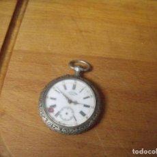 Relojes de bolsillo: ANTIGUO RELOJ BOLSILLO EN PLATA AÑO 1890 - FUNCIONA- LOTE 259. Lote 223729092