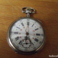 Relojes de bolsillo: ANTIGUO RELOJ BOLSILLO EN PLATA AÑO 1890 - FUNCIONA- LOTE 259. Lote 223729231
