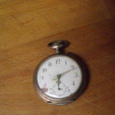 Relojes de bolsillo: ANTIGUO RELOJ BOLSILLO EN PLATA AÑO 1880 - FUNCIONA- LOTE 259. Lote 223729513