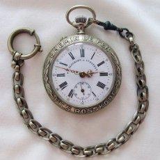 Relojes de bolsillo: RELOJ DE BOLSILLO ANTIGUO CHEMIN DE FER ROSKOPF FERROVIARIO. Lote 223731227