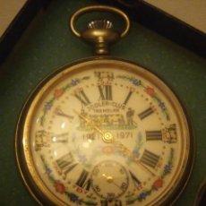 Relojes de bolsillo: ANTIGUO RELOJ CRONÓGRAFO DE BOLSILLO JODLER CLUB TRAMELAN ,SWISS MADE 1821 -1971,MUY DECORADO.40S. Lote 223732157