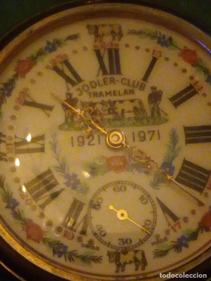 Relojes de bolsillo: Antiguo reloj cronógrafo de bolsillo jodler club tramelan ,swiss made 1821 -1971,muy decorado.40s - Foto 3 - 223732157
