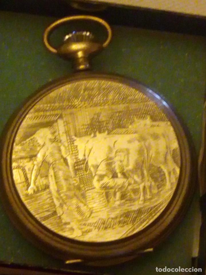 Relojes de bolsillo: Antiguo reloj cronógrafo de bolsillo jodler club tramelan ,swiss made 1821 -1971,muy decorado.40s - Foto 7 - 223732157