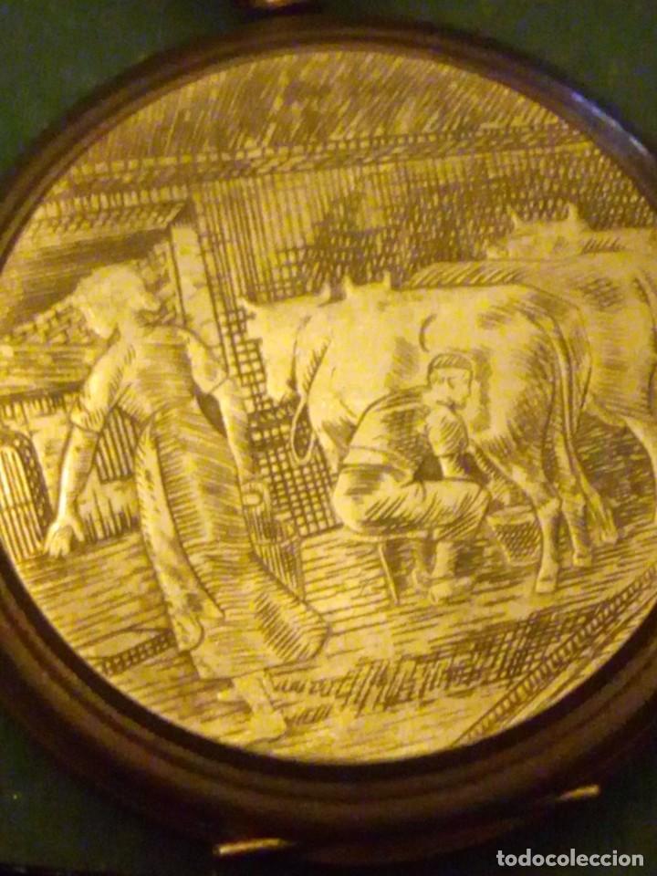 Relojes de bolsillo: Antiguo reloj cronógrafo de bolsillo jodler club tramelan ,swiss made 1821 -1971,muy decorado.40s - Foto 8 - 223732157