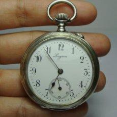 Relojes de bolsillo: RELOJ DE BOLSILLO. DE CARGA MANUAL. PLATA. LONGINES. GRAND PRIX PARIS 1900. DE 3 TAPAS.. Lote 224034425