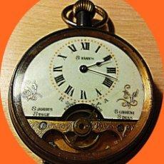 Relojes de bolsillo: BOLSILLO HEBDOMAS 8 DIAS. Lote 224495841