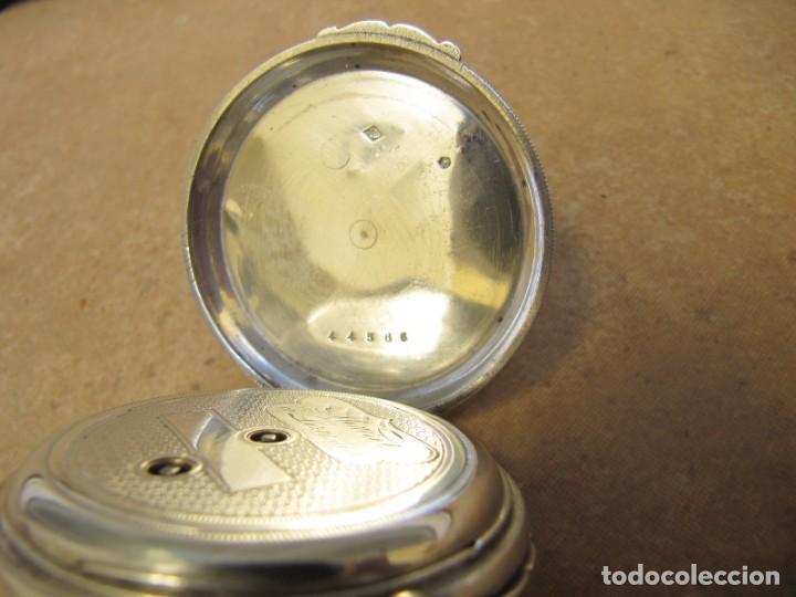 Relojes de bolsillo: ANTIGUO RELOJ DE CUERDA DE BOLSILLO DE PLATA DE LLAVE. - Foto 25 - 224534018