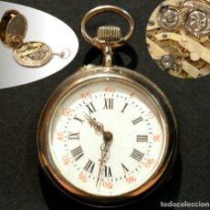 Relojes de bolsillo: ANTIGUO RELOJ DE BOLSILLO LEPINE CARGA MANUAL ESFERA DE PORCELANA. Lote 224997015