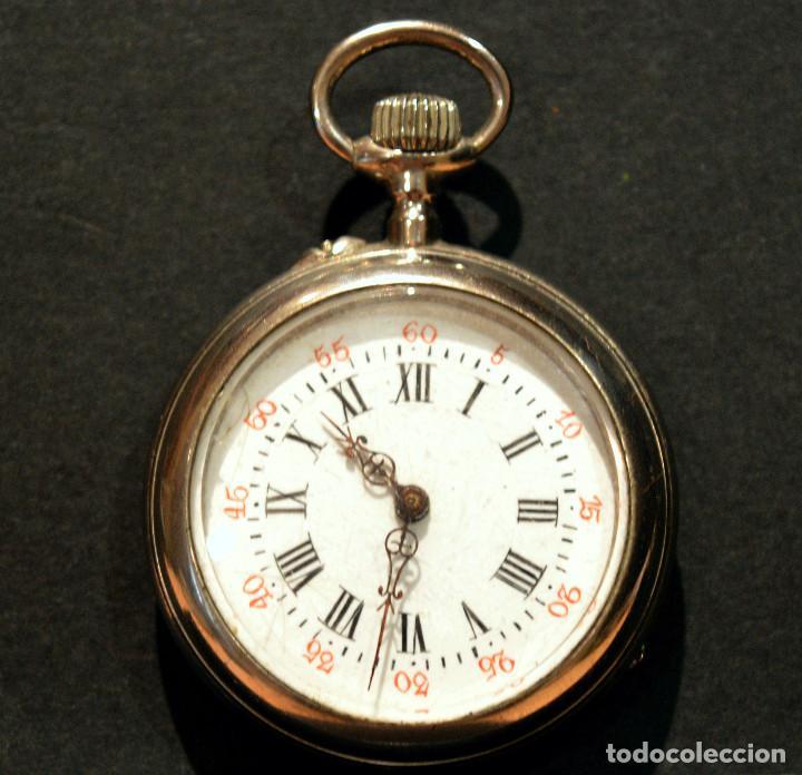 Relojes de bolsillo: ANTIGUO RELOJ DE BOLSILLO LEPINE CARGA MANUAL ESFERA DE PORCELANA - Foto 2 - 224997015