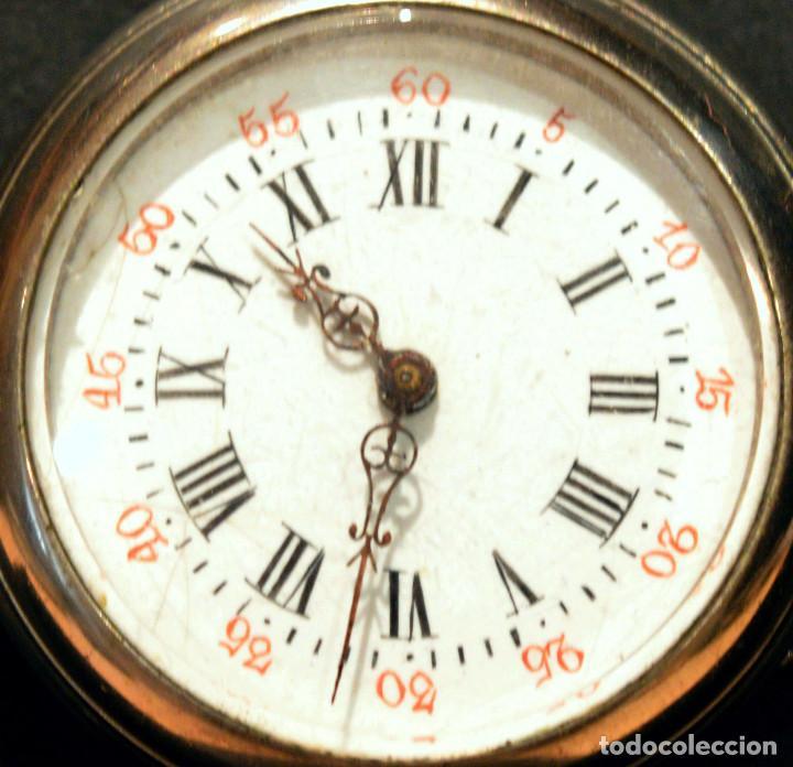 Relojes de bolsillo: ANTIGUO RELOJ DE BOLSILLO LEPINE CARGA MANUAL ESFERA DE PORCELANA - Foto 3 - 224997015