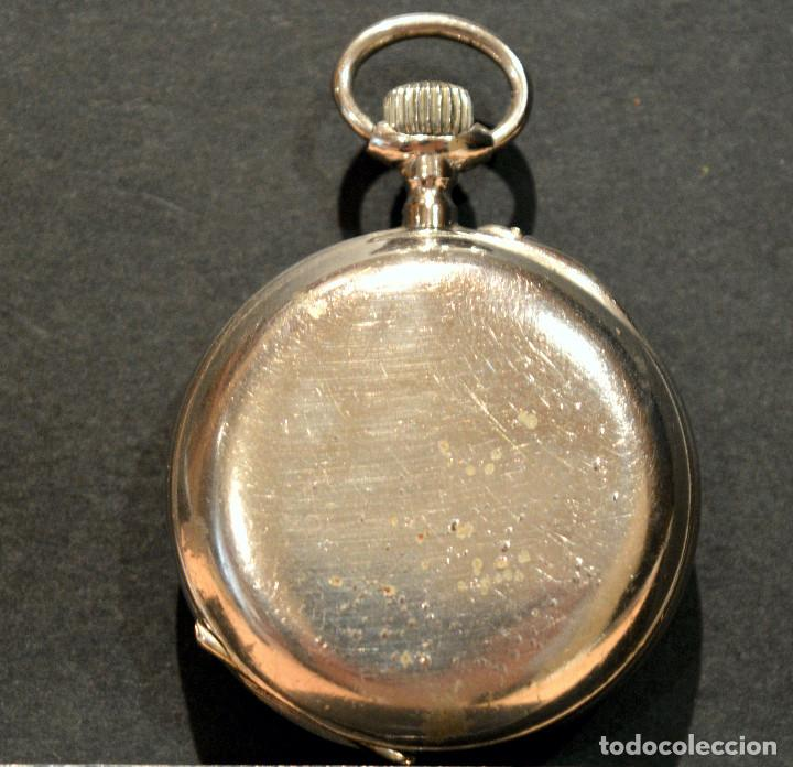 Relojes de bolsillo: ANTIGUO RELOJ DE BOLSILLO LEPINE CARGA MANUAL ESFERA DE PORCELANA - Foto 4 - 224997015