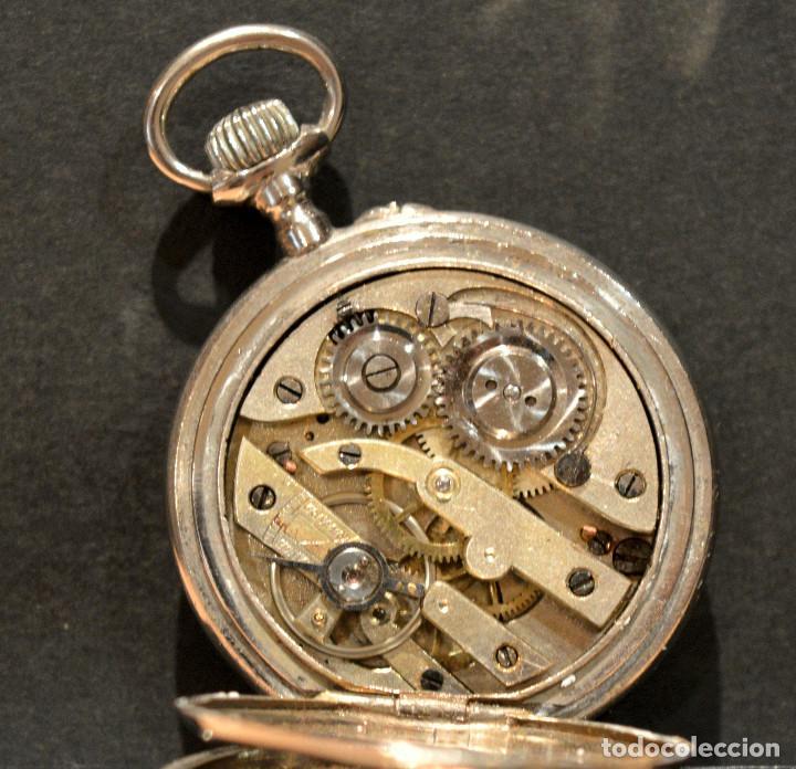 Relojes de bolsillo: ANTIGUO RELOJ DE BOLSILLO LEPINE CARGA MANUAL ESFERA DE PORCELANA - Foto 5 - 224997015